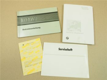 BMW 316 318i 320i 325e 325i Cabrio 325iX 324d Betriebsanleitung 1986 Serviceheft