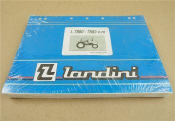 Original Landini L7880 v m Ersatzteilliste Ersatzteilkatalog 11/95 Parts List