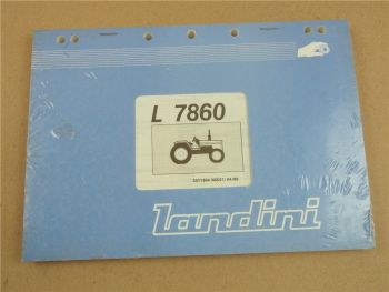 Original Landini L7860 Schlepper Ersatzteilliste 4/89 Parts List Pieces Rechange