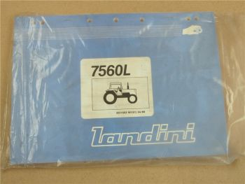 Original Landini 7560L Schlepper Ersatzteilliste 1989 Parts List Pieces Rechange
