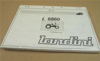 Original Landini L6860 Schlepper Ersatzteilliste 4/89 Parts List Pieces Rechange