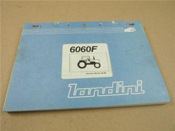 Landini 6060F Schlepper Ersatzteilliste 1989 Parts List Pieces Rechange Ricambio