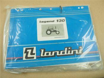 Landini legend 130 Schlepper Ersatzteilliste 1995 Pieces Rechange Pezzi Ricambio