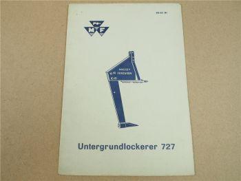 Original Massey Ferguson MF 65 Bedienungsanleitung für MF 727 Untergrundlockerer