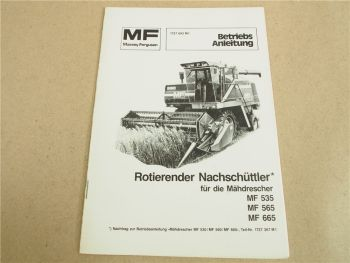 Massey Ferguson MF 535 565 665 Mähdrescher Bedienungsanleitung 82 Nachschüttler