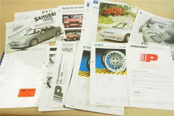 Prospekte Peugeot IP Postert Samurai KBS Tuning Zubehör Preise 80er Jahre