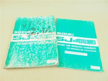 Werkstatthandbuch Suzuki Samurai SJ413 Reparaturanleitung 1984 / 1986