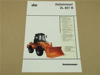 Prospekt Zettelmeyer ZL 801B ZL801B Radlader von 3/1992