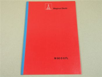 Magirus Deutz M80D8FL Fronlenker LKW 1969 Technische Beschreibung Daten