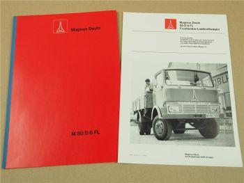 Magirus Deutz 80D6FL Fronlenker LKW 1969 Technische Beschreibung mit Prospekt
