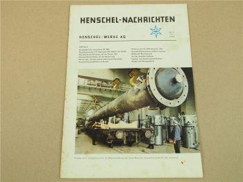 Henschel Werke AG Nachrichten Zeitschrift Zeitung Nr. 2 April 1962