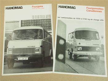 2 Prospekte Hanomag F 45 55 65 Fourgons F 20 25 30 35 Fourgonettes 1967