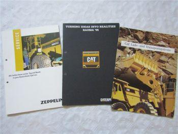 3 Prospekte CAT Zeppelin Service Bauma 95  Lade- / Transportsysteme 1992-1995