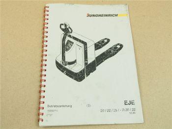 Jungheinrich EJE-R EJE 20 22 25 Elektrohubwagen Betriebsanleitung Bedienung 1996