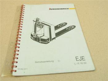 Jungheinrich EJE EJE-L EJE-R 16 22 Hubwagen Betriebsanleitung Bedienung 94