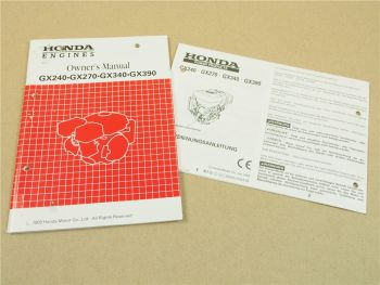 Honda GX240 GX270 GX340 GX390 Bedienungsanleitung 2003 Owners Manual