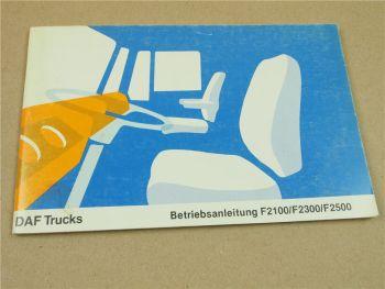 DAF F2100 F2300 F2500 Trucks LKW Betriebsanleitung Bedienung und Wartung