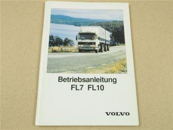 Volvo FL7 FL10 Lastwagen Betriebsanleitung Bedienung und Wartung ca 1996