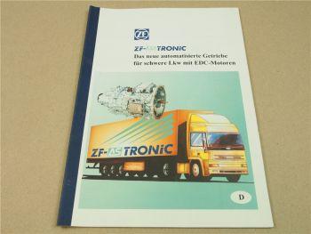 ZF AS Tronic Automatikgetriebe für schwere LKW mit EDC Motoren 8/1996 Handbuch