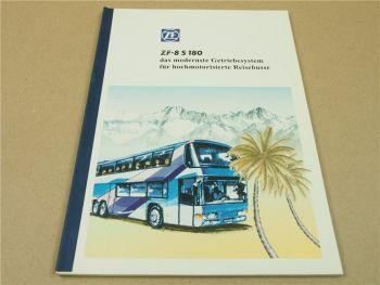 ZF 8S180 Getriebesystem fü hochmototrisierte Reisebusse Handbuch Schulung