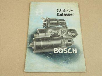 Bosch Einstufige Schubtrieb Anlasser Bauart C Handbuch 10/1954