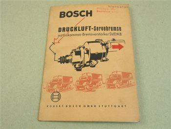 Bosch Druckluft Servobremse mit Einkammer Bremsverstärker SV/DKB Handbuch 1961