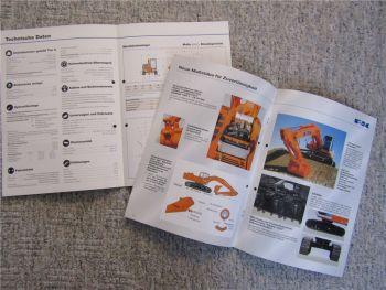 13 Prospekte Fiat Kobelko FK Bagger E 115SR 80 200SR 135SR EX 455 135 2002/2003