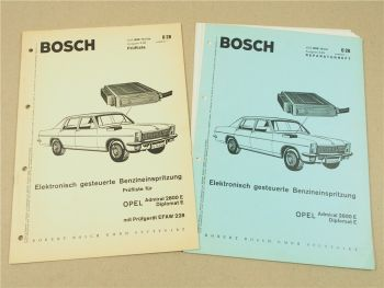 Bosch Elektronisch gesteuerte Benzineinspritzung Prüfliste u. Reparaturheft OPEL