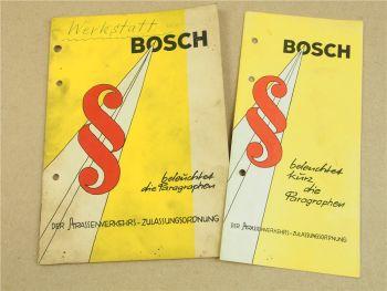 Bosch beleuchtet kurz die Paragraphen der StVZO 1962 2 Hefte