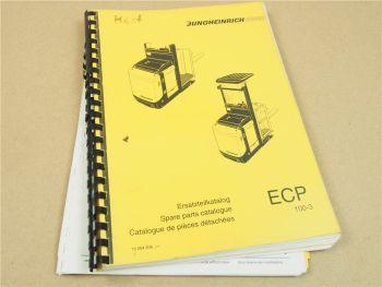 Jungheinrich ECP 100-3LG 100E ERsatzteilliste Parts List Pieces de Rechange
