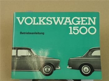 VW 1500 Betriebsanleitung Bedienungsanleitung 1963