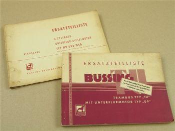 Büssing 6000T TU LKW und U9 U10 Motor Ersatzteilliste 1953/54 Ersatzteilkatalog