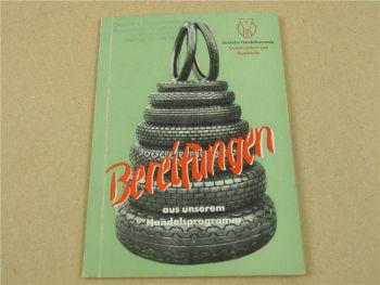 VH Deutsche Handelszentrale Bereifungen Fahrrad KFZ Katalog Handbuch 1953