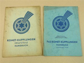 F&S Sachs Komet Kupplungen Handbuch 1939 und Ersatzteilliste 1938
