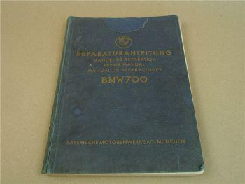 BMW 700 Werkstatthandbuch Reparaturanleitung Repair Manual 1960
