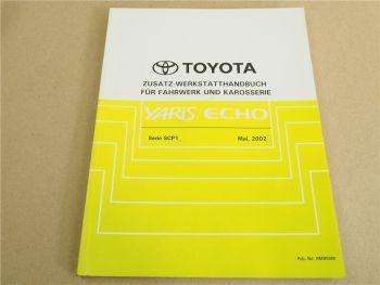 Reparaturanleitung Toyota Yaris Echo SCP 10 12 Werkstatthandbuch 2002 Nachtrag