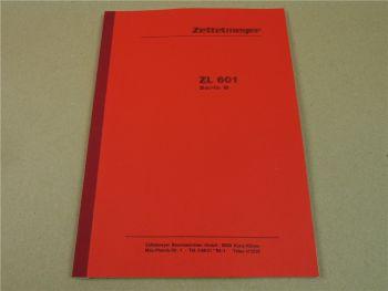 Zettelmeyer ZL601B ZL 601 Serie B Betriebsanleitung