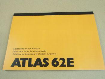 Atlas 62E Ersatzteilliste Spare Parts List Catalogue de Pieces