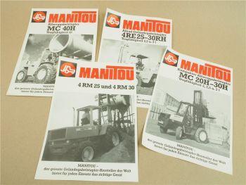 4 Prospekte Manitou MC 20 25 30 H 4 RM 25 30 MC40H 4RE 25 30 RH Stapler 70er Jah