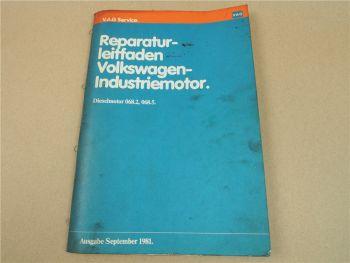 Reparaturleitfaden VW 068.2 + 068.5 Industriemotor Dieselmotor Werkstatthandbuch