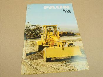 Prospekt FAUN F105 Grader von 1984