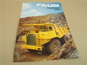 Prospekt FAUN K40.5 Muldenkipper 1984