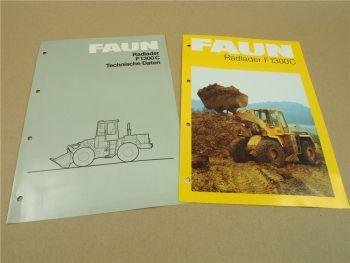 2 Prospekte Technische Daten FAUN F1300 C Radlader 1982