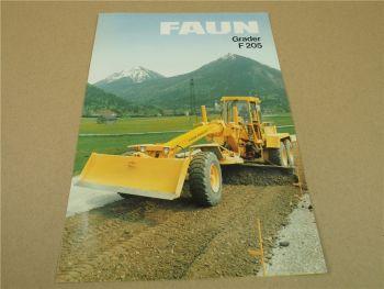 Prospekt FAUN F205 Grader 1984