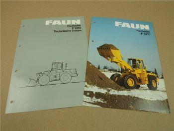 2 Prospekte Technische Daten FAUN F1310 Radlader 1983