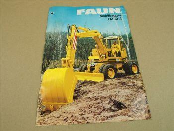 Prospekt FAUN FM1014 Mobilbagger 1984