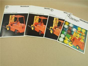 4 Prospekte Steinbock DFG BFG TFG 1,25DV 2DR 3RA - 5D Gabelstapler 1972/73