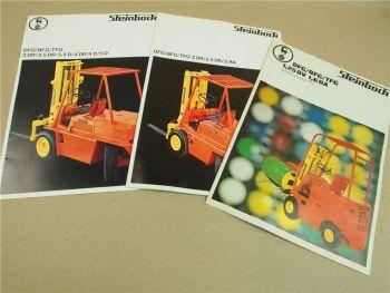 3 Prospekte Steinbock DFG BFG TFG 1,25DV 2DR 3RA - 5D Gabelstapler 1972/1973