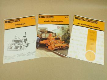 3 Prospekte Vibromax Weller Verdichtungsprogramm F25 Kleinfertiger
