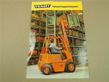 Prospekt Fendt Industriestapler 1,75t 2,0t 2,5t und 3,0t von ca 1977